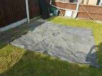 Awning carpet, grey, 8ft square approx