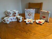 Christmas plates, mugs and dishes