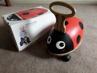 Skipper Ride N Roll Wooden Ladybird with original box