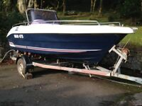 Galia 475 Sports / Fishing Boat with Honda 40HP 4 Stroke Outboard Engine and Roller Coaster Trailer