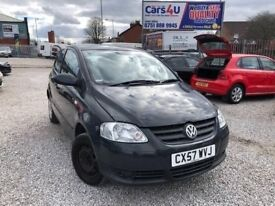 07 VOLKSWAGEN FOX 55 1.2 PETROL IN GREY *PX WELCOME* MOT TILL MAY 2018 £1495