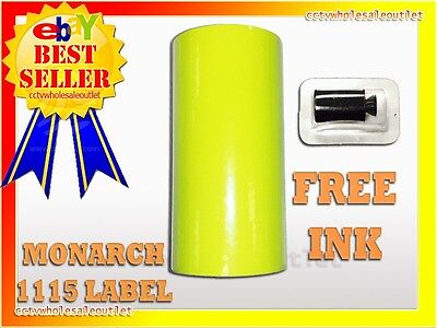 Fluorescent Yellow Label For Monarch 1115 Pricing Gun 1 Sleeve10rolls