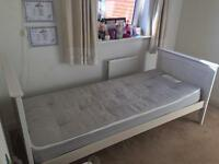Aspace White Kids Bed with Mattress & wardrobe