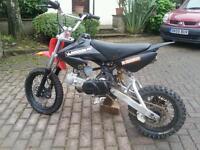 Pitbike 125cc 4 speed manual pit bike