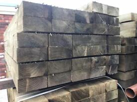 🍁Tanalised 190 X 90 X 2.4M Wooden Railway Sleepers