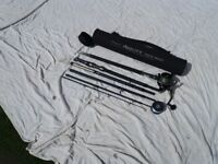 Travel fishing rod and reel