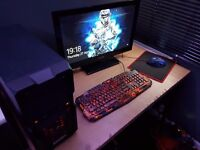 Zoostorm gaming pc with 23' tv nee gaming mouse and keyboard(changeble colours)