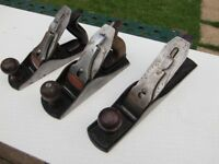 3 Stanley planes No 5 , No 4 1/2 No 4 woodworking planes from £20 each