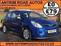 2010 HYUNDAI I20 CLASSIC ** LOW MILES ** FINANCE AVAILABLE WITH NO DEPOSIT NEEDED