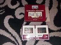 Retro mario game and watch boxed