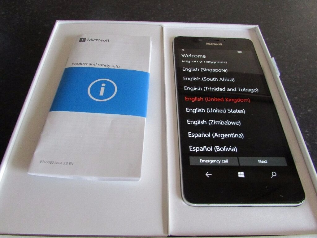 Unlocked, mint condition Microsoft Lumia 950 Windows 10 Smartphone (Whitein Dunfermline, FifeGumtree - Reduced and relisted due to yet more no shows on Gumtree. Why do it people ?? Selling a mint condition, fully boxed and unlocked Microsoft Lumia 950 Windows 10 Smartphone. Phone is the 32GB White model and comes complete with USB C cable and USBC...