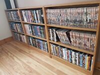 DVD collection 250+ Movies & Boxsets. plus bookcases
