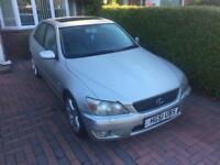 Lexus IS200 2001 silver 6 speed straight six manual petrol 2.0 litre se model