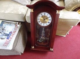 large battery chiming wall clock in good working order