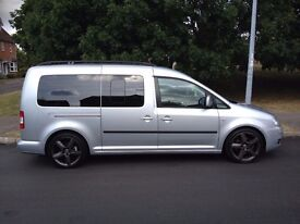 VW CADDY MAXI LIFE Spacious 7 Seater MPV, Automatic, Excellent Condition, Low Mileage, No VAT