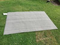 Grey and white stripy rug mat IKEA