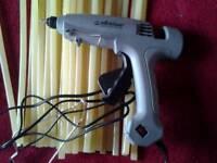 Heavy duty glue gun , made by stickfast used once , plus 200 x 300mm glue sticks