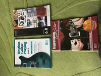 Set of three advanced guitar playing music books