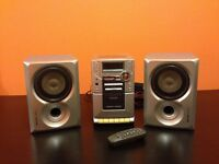 Cheap! £100 worth Remote Controlled Philips MC-110 HIFI Music system Audio CD/Radio/Cassette player