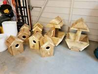 Bird Boxes and wishing Well Planters