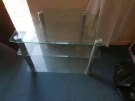 3 tier glass tv unit