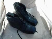 steel cap boots.