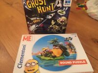 Ghost hunt game and minion Jigsaw