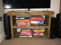 Solid wood handmade TV stand