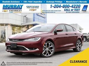2016 Chrysler 200 C *Leather Seats, Heated Seats, Climate Contro