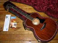 Taylor 524e electro acoustic all mahogany Grand Auditorium with Expression System 2 pickup 2014