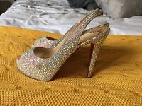 Swavorski Crystal Louboutin Bridal Shoes size 5 - with receipt