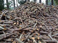 Fire wood logs truck load 2 builders bags