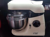 RUSSELL HOBBS FOOD MIXER, CREAM, with blender, nearly new, great condition, £100 ono