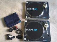 Stanton T60 Turntables (Pair)