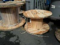 Cable drums used wooden various sizes can deliver locally for an additional fee