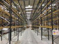 job lot 1000 BAYS link pallet racking AS NEW( storage , industrial shelving )