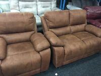 New Ex Display - ScS Tan 2 Seater Sofa + 1 Seater Chair