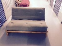 FUTON COMPANY LINEAR Sofa bed. 2 Seater Double Futon SofaBed + Hardwood Frame + I CAN DELIVER