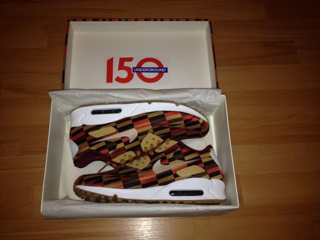 b5d29347ed Nike Airmax 90 Roundel 7.5UK 2013 RARE Lim Edt London Underground Tube 150  Year Anniversary 100sales
