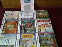 Pink DS lite boxed and 9 games