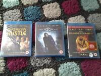 new and sealed blu rays x 3, £5