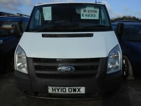 FORD Transit 85 T285 FWD Panel Van,2.2 Diesel 1 Former Keeper, 125,000 miles, 2010-10 Plate REDUCED