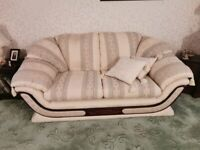 3 piece suite with x2 armchairs for sale