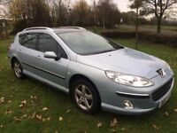 2006 peugeot 407 estate 1.6 hdi, diesel ,towbar hands free drives great SWAP/PX