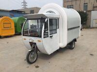 Electric Engine Bike Mobile Catering Trailer Food Cart Burger Van Ice Cream Cart