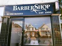 Barber required full or part-time must speak fluent English