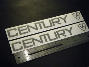 Century Boats Silver Decal 12