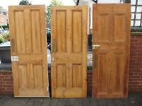 Reclaimed traditional Edwardian pine Doors in good condition