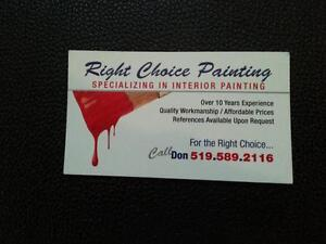 Right Choice Interior  Painting. Kitchener / Waterloo Kitchener Area image 4