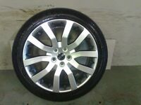 ALLOYS X 4 OF 20 INCH GENUINE RANGEROVER/DISCOVERY/SUPERCHARGED FULLY POWDERCOATED IN A SHADOWCHROME